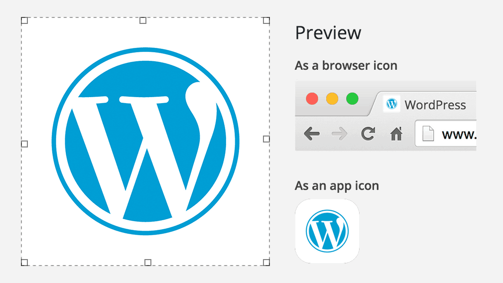 Personalización site icon en WordPress