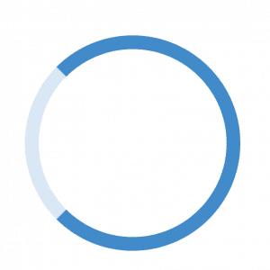 Spinner con írculo incompleto